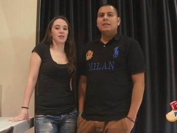 Laura y Mauricio con ganas de grabar un video porno