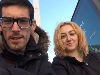 Julieta y Toni se van de compras y acaban de calenton follando en el centro comercial